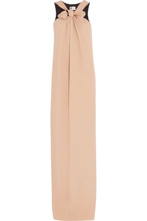 LANVIN Knotted silk-crepe gown