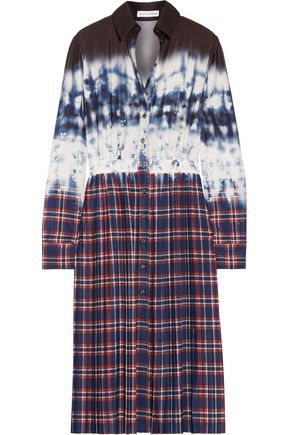 ALTUZARRA Maria pleated printed crepe de chine dress