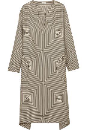 TOTÊME Soma printed silk-twill dress
