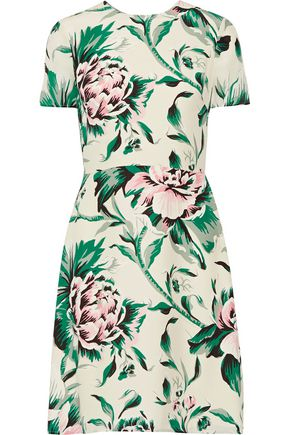 BURBERRY Printed silk-georgette dress