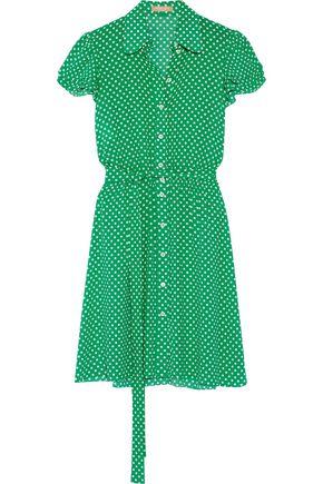 MICHAEL KORS COLLECTION Polka-dot silk-georgette mini dress