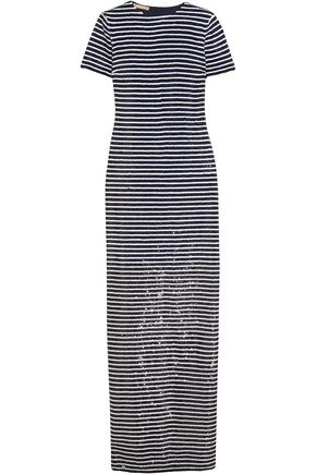 MICHAEL KORS COLLECTION Striped sequined silk maxi dress