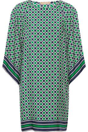 MICHAEL KORS COLLECTION Printed silk-twill mini dress