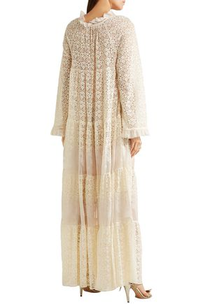 Stella Mccartney Woman Erika Cotton-blend Lace Maxi Dress Ecru Size 42 Stella McCartney EtEyZ