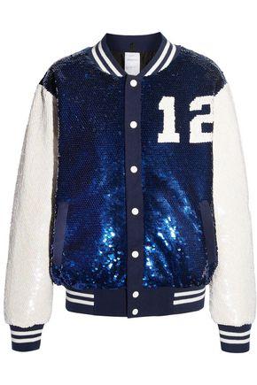 ASHISH Embellished crepe bomber jacket
