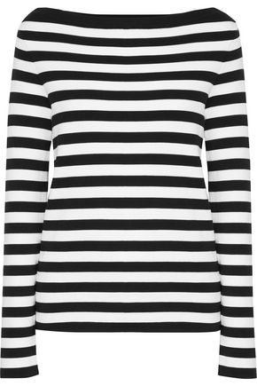 MICHAEL KORS COLLECTION Striped cotton-jersey top