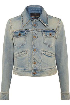 ROBERTO CAVALLI Embroidered studded denim jacket