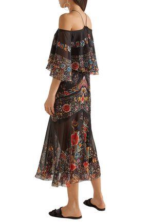 Off-the-shoulder dress Roberto Cavalli Zq23ufLr