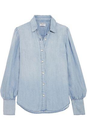 BY FRAME Feminine gathered chambray shirt