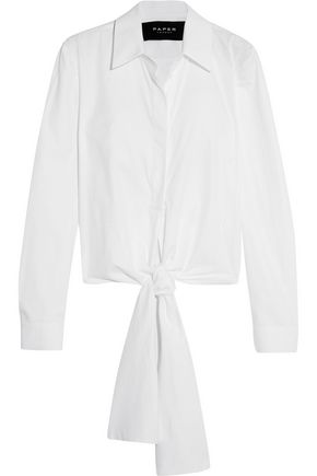 PAPER London Bow cotton-poplin shirt