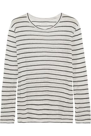 ISABEL MARANT ÉTOILE Aaro linen and cotton-blend slub jersey top