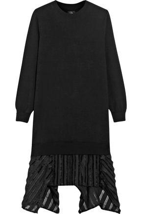 CLU Fil coupé-trimmed slub stretch-jersey dress