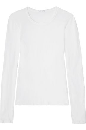 JAMES PERSE Little Boy Tee brushed-cotton top