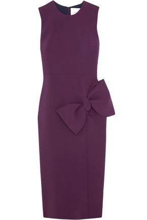 ROKSANDA Laurana bow-embellished stretch-cady dress
