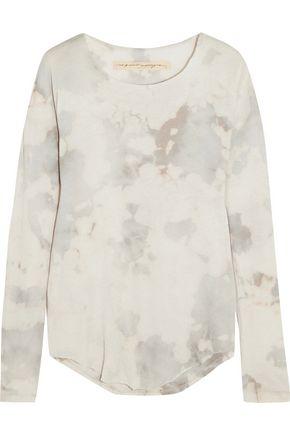 RAQUEL ALLEGRA Tie-dyed cotton-blend jersey top