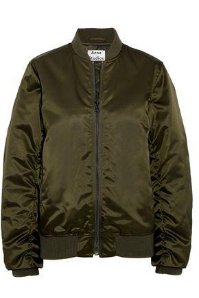 ACNE STUDIOS Leia ruched satin bomber jacket