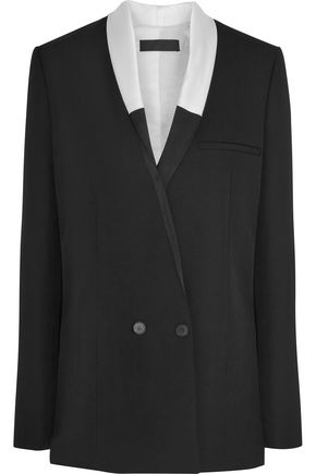 HAIDER ACKERMANN Satin-trimmed wool blazer