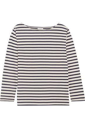SAINT LAURENT Striped cotton-jersey top