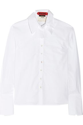 RONALD VAN DER KEMP Layered cotton shirt