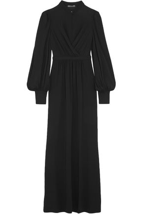 ALEXANDER MCQUEEN Layered stretch-jersey gown