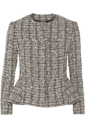 ALEXANDER MCQUEEN Cotton and wool-blend tweed peplum jacket