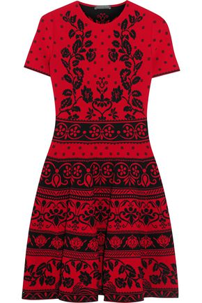 ALEXANDER MCQUEEN Stretch jacquard-knit mini dress