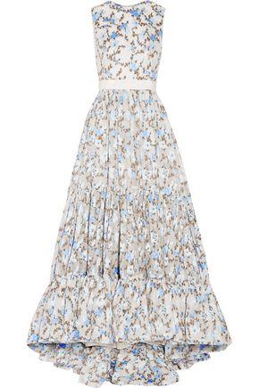 ALEXANDER MCQUEEN Floral-jacquard gown