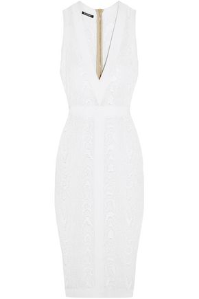 BALMAIN Jacquard-knit dress
