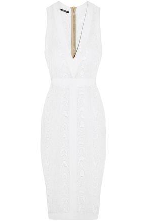 BALMAIN Jacquard-knit dress