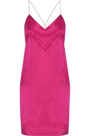 MICHAEL LO SORDO Silk-satin mini dress