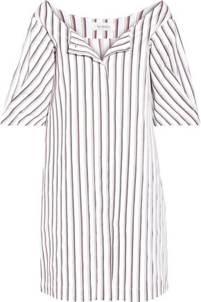 ISA ARFEN Striped cotton-poplin mini dress