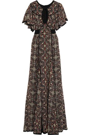 TALITHA Raj cutout printed silk-georgette maxi dress