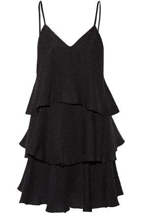 PAUL & JOE Florenti tiered silk-blend cloqué mini dress