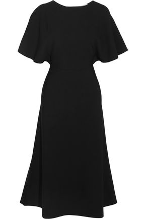 VALENTINO Cape-effect crepe dress