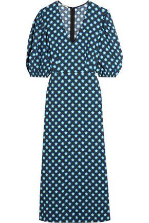 MIU MIU Printed crepe de chine midi dress