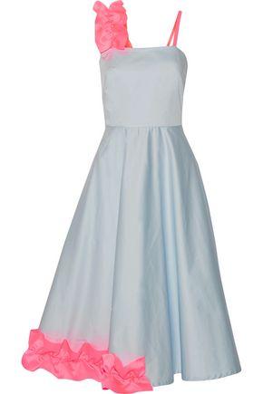 PASKAL Ruffle-trimmed cotton-blend midi dress