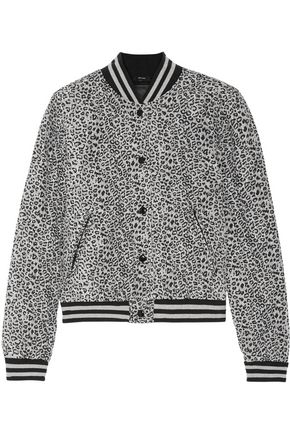 R13 Quilted leopard-print silk bomber jacket