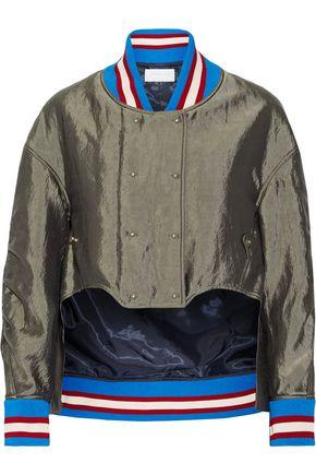 ESTEBAN CORTAZAR Asymmetric satin bomber jacket