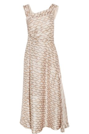 ISABEL MARANT Shari printed hammered-silk midi dress