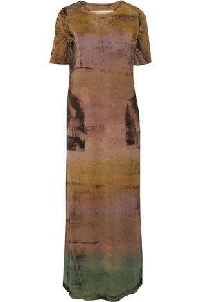 RAQUEL ALLEGRA Tie-dyed stretch cotton-jersey maxi dress