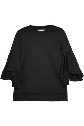 FACETASM Ruffled cotton-jersey T-shirt