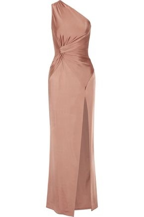 CUSHNIE ET OCHS Denise one-shoulder stretch-satin gown