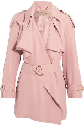 BURBERRY Draped slub silk jacket