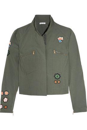 TOMAS MAIER Appliquéd cotton-blend poplin jacket