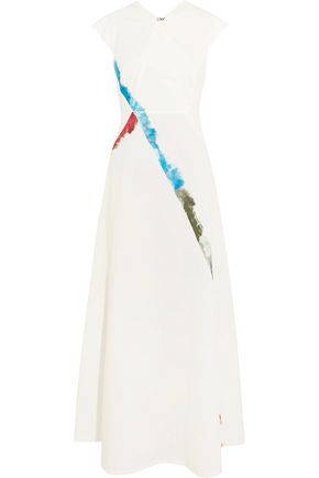 TOMAS MAIER Cutout printed stretch-cotton maxi dress