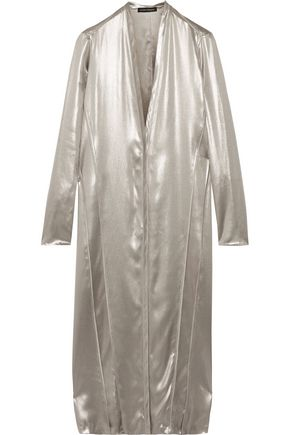 NARCISO RODRIGUEZ Metallic silk-satin dress