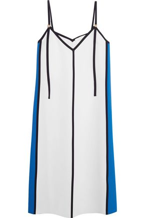 VICTORIA, VICTORIA BECKHAM Paneled crepe de chine dress
