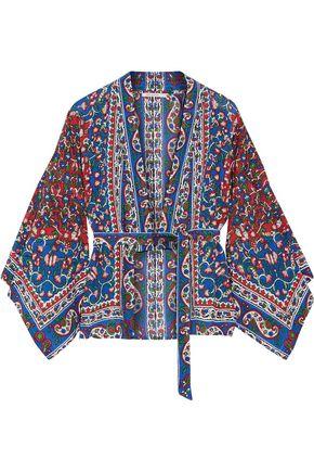 MES DEMOISELLES Gitane printed cotton-blend voile kimono