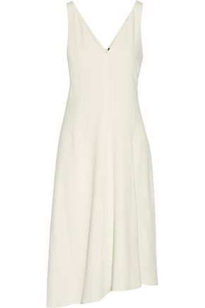 THEORY Asymmetric pleated crepe dress