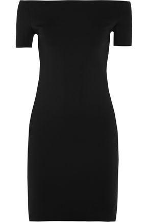 HELMUT LANG Off-the-shoulder neoprene mini dress